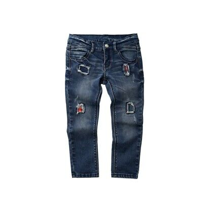 Kids Boys Children Jeans Fashion Denim Trousers Korean Version Casual Pants 1-6Y