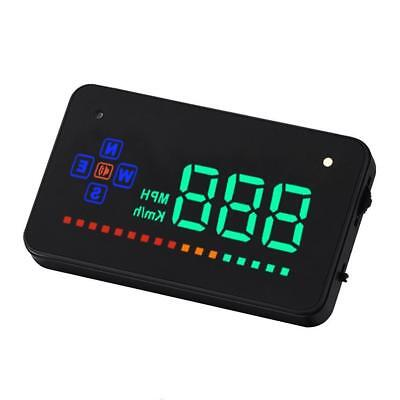 """Head Up Display 3.5"""" A2 GPS Car Overspeed Warning Speedometer Cigarette Port TH"""