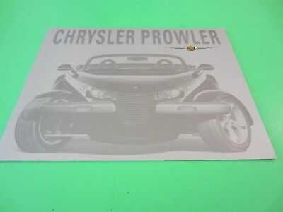 2001 Chrysler Prowler Showroom Sales Brochure
