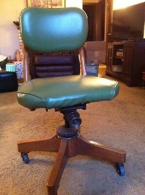 Vintage Sikes Industrial Wood Steampunk Swivel Adjustable Desk Office Chair