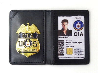 Mission Impossible II Ethan Hunt ID Card CIA Badge Holder Case Movie Cosplay