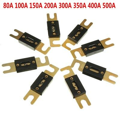 Gold Plated Car Vehicle Stereo Audio ANL Fuse 80 100 150 200 300 350 400 500 AMP