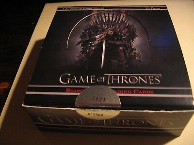 Game of Thrones Season 1 - WAX BOX ONLY - NO CARDS  - Hard To Find! - Excellent