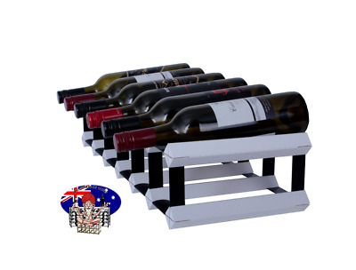 12 OR 7 Bottle WHITE Timber Wine Rack -Genuine BORDERS Product - 100% Australian
