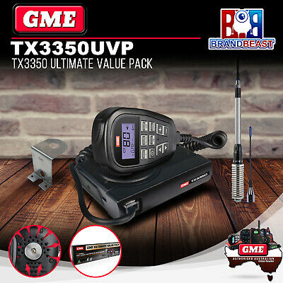 Gme Tx3350Uvp Compact 80 Channel Uhf Cb Radio Value Pack