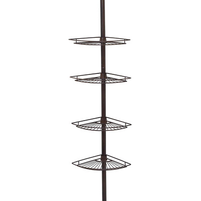 CHAPTER TENSION POLE Shower Caddy Satin Nickel Finish - $19.99 ...