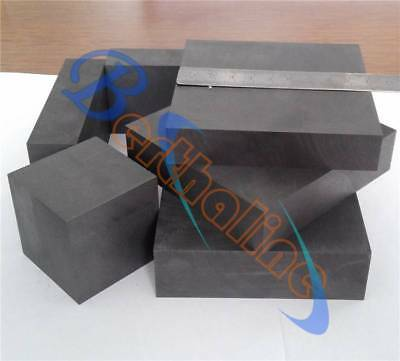 2pcs New High Purity 99.9% Graphite Ingot Block Sheet 50mm * 50mm * 20mm