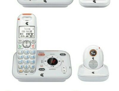 Telstra 13350 DECT 6.0 CORDLESS PHONE WITH PENDANT VGC BOXED Power backup featur