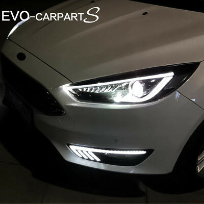 Led Headlights For Ford Focus 2017 2016 2018 Lh Rh Sequential Indicator