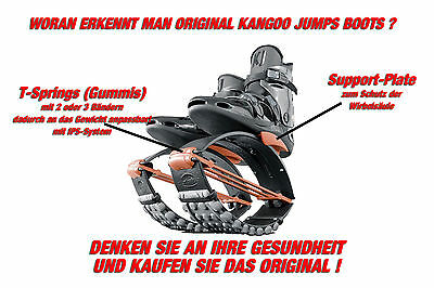 ORIG. KANGOO JUMPS XR3 Springschuhe BLACK/ORANGE Gr. M (passend für 39-41,5)