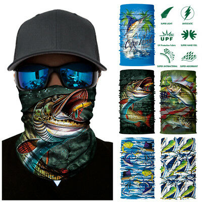 Outdoor Fishing Multi-Purpose Face Mask Neck Scarf Headband Tube Mask Snood