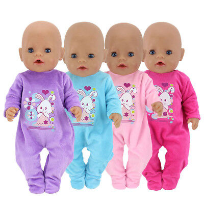 4 Colors Baby Born Doll Clothes Cartoon Set For 43cm 17 inch Doll Clothes