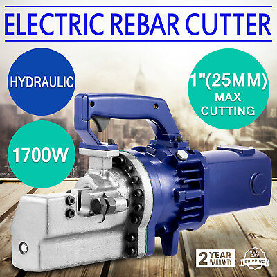 "RC-258C 1700W 1"" 8# Electric Hydraulic Rebar Cutter Steel Bar Light Alloy GOOD"