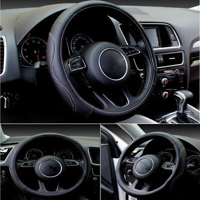 1pc Auto Car Steering Wheel Cover PU Leather Universal 38cm Cover for All Season