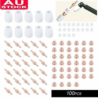 100 PCS Portable Plasma Cutter Consumables For LG-40 PT-31 Cutting Torch