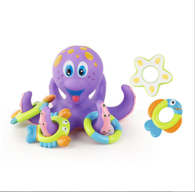 Floating Bath Toys Baby Octopus Kids Infant Toddlers Bath puzzle game purple AU