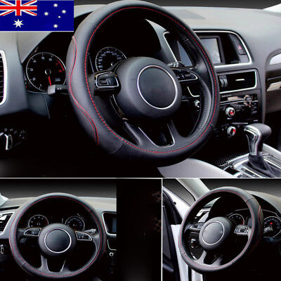 Luxury Sporty Car Steering Wheel Cover PU Leather Universal 38cm Auto Car Cover