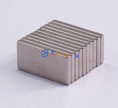 20pc Super Strong Block Cuboid Fridge Magnets Rare Earth Neodymium N52 20x10x2mm
