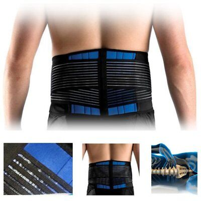 New Lumbar Lower Back Support Brace Strap Belt Pain Relief Posture Waist Trimmer