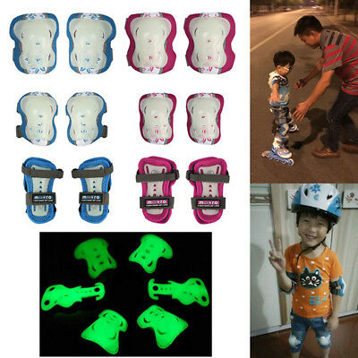 Kids Teens Bike Skating Protective Gear Set Elbow Knee Wrist Pads Safety Guards
