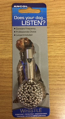Dog Puppy Training Whistle Constant Frequency With Lanyard Professionals Choice
