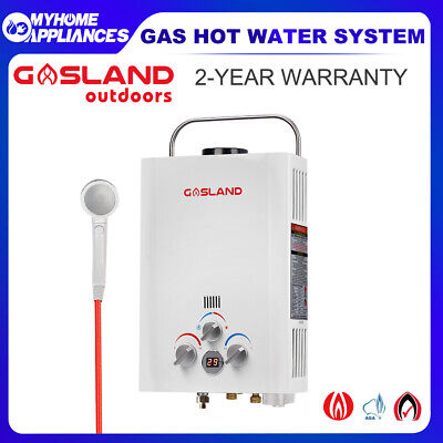 GASLAND Gas Hot Water Heater Portable Shower Camping LPG Gas Instant Caravan
