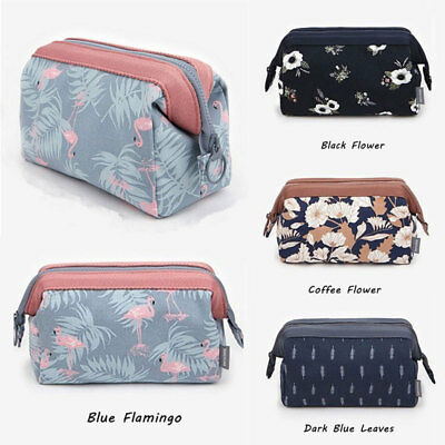 Flamingo MAKE UP BAG Pencil Case Emoji Cosmetic Travel Girls Women Handbag HOT