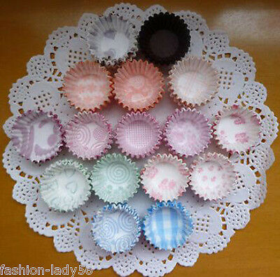 300 Colorful Mini Cupcake Liners Muffin Case Cake Paper Baking Cups Mold Random