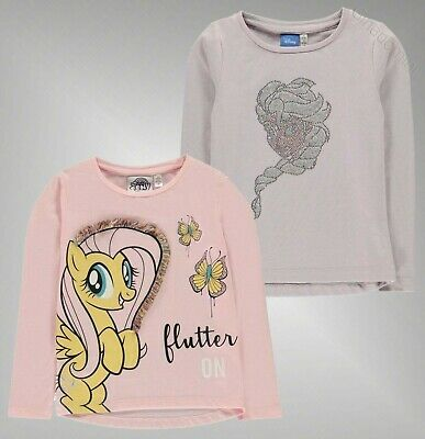 Girls Character Classic Crew Neck T Shirts Long Sleeve Top Sizes Age 2-12 Yrs