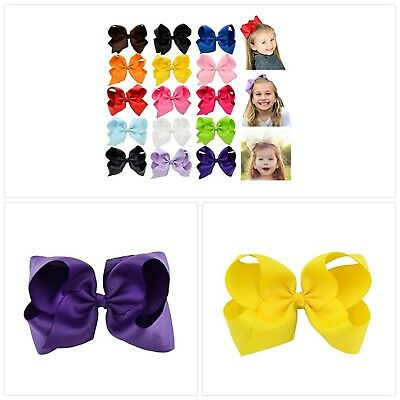 6 Inch Large Baby Hair Bows Barrettes Clip Holders Accessories For Toddler Girls