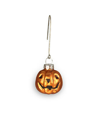 Bethany Lowe Mini Glass Jack O'Lantern Pumpkin Ornament   **FREE SHIPPING**