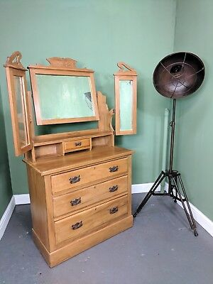 An Antique Edwardian Satinwood Dressing Chest Table~Delivery Available~