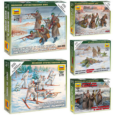 """ZVEZDA Model Kits """"Soviet Soldiers of Land Army (Winter) 1941-1943 year, WWII"""""""