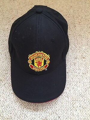 9b1c727a616 Manchester United Cap - Official Black With Embroidered Logo Adult Size -  New