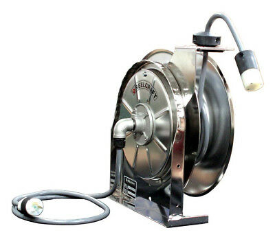 Reelcraft LS5415-123-3M Stainless Cord Reel 12/3 15ft, 15A, Medical Grade