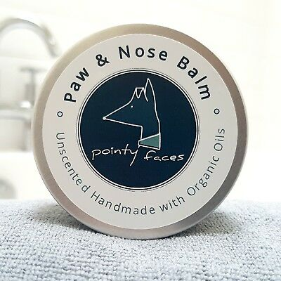 Dog Paw and Nose Balm Organic Unscented. Butter for Dry Skin, Paws and Noses 60g