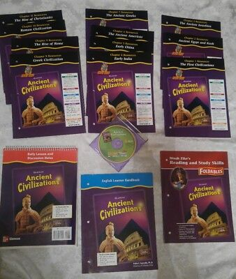 Glencoe 6th 7th 8th grade 6 7 8 ancient civilizations full glencoe 6th 7th 8th grade 6 7 8 ancient civilizations full curriculum lot of 15 fandeluxe Choice Image