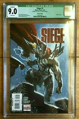 Siege #2 Dell Otto Variant Signed X2 Stan Lee & Brian Michael Bendis CGC 9.0