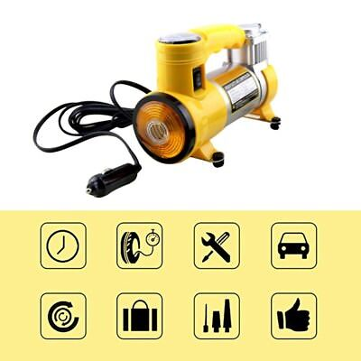 Portable Air Compressor 12V Heavy Duty Durable For Car SUV Tire Pump Inflater
