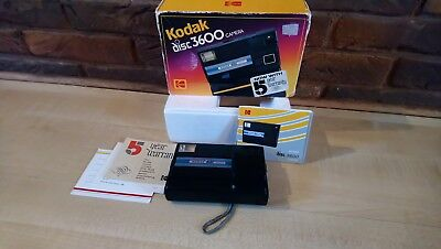kodak disc 3600 camera boxed with instructions