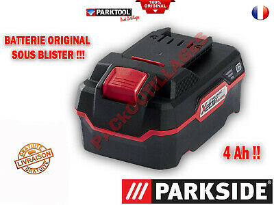 batterie Lithium-ions 20 V  grande capacité 4 Ah Parkside série XTEAM