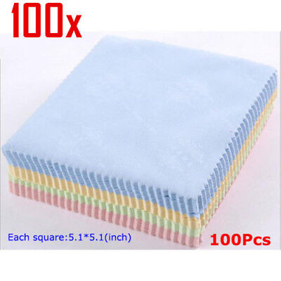 100Pcs Microfiber Phone Screen Camera Lens Glasses Square Cleaner Cleaning Cloth