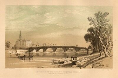 View of the old Bridge, foot of Stockwell Street, 1846, Glasgow 1848 print