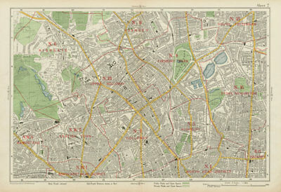 N LONDON Finsbury Park Highgate Holloway Stoke Newington Camden. BACON 1934 map