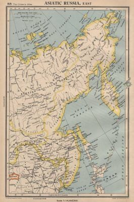 ASIATIC RUSSIA, EAST. Siberia Yakutsk Sakhalin. BARTHOLOMEW 1944 old map