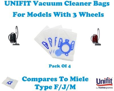 MIELE S772 (AMBITION stahlblmet) UNIFIT VACUUM CLEANER BAG MIELE TYPE G/N 4PK