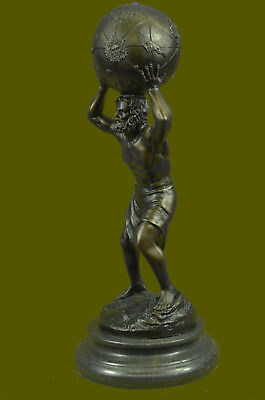 Original Vitaleh Greek mythology Atlas Bronze Sculpture Hot Cast Home Decor Gift