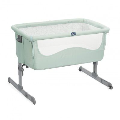 Chicco Next 2 Me 2018 Side Sleeping Crib Green Baby Crib BRAND NEW FAST DELIVERY