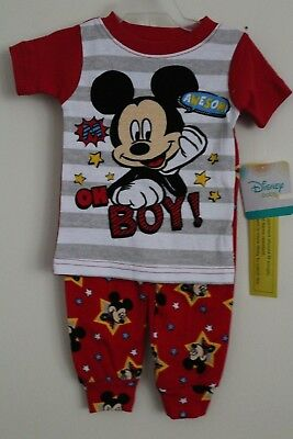 Disney Mickey Mouse Baby Boys 2 Piece COTTON Pajamas LS 18 Months NWT FAST