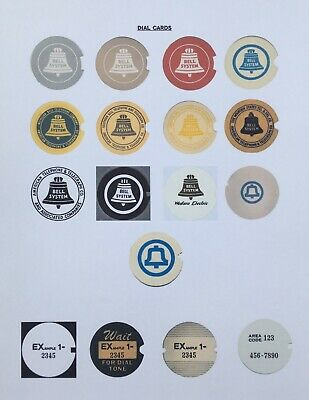 CUSTOMIZABLE!! 16 Western Electric/Bell Systems Rotary Dial Cards
